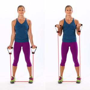 resistance bands that focus on your biceps