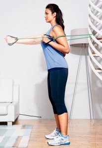 resistance bands that focus on your chest