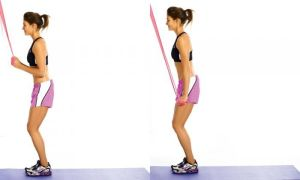 resistance bands that focus on your triceps